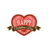 Happy Valentines day text Lettering heart shape  Stock Photos
