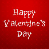 Happy Valentines Day text on red background Royalty Free Stock Photo