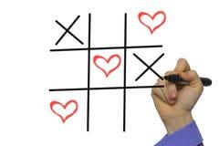 Happy Valentines day TIC-TAC-toe by xoxo, Stock Photo