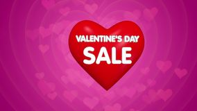 Happy Valentines day title sale or discount offer concept stock footage