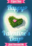 Happy Valentines Day Tropical Island Stock Images