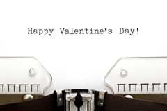 Happy Valentines Day On Typewriter Royalty Free Stock Images