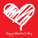 Happy Valentines Day. Typographic Lettering isolated Stock Photography