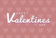 Happy Valentines Day typography poster with handwritten calligraphy text royalty free illustration