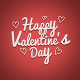 Happy Valentines Day typography poster with handwritten calligraphy text stock illustration