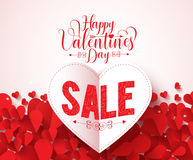 Happy valentines day typography with sale text vector design Stock Images