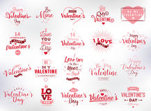 Happy Valentines day typography set. Vector design. Happy Valentines day typography set. Vector text design. Usable for banners, greeting cards, gifts etc. 14 Royalty Free Stock Photo