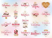 Happy Valentines day typography. Vector design. Stock Photos