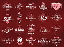 Happy Valentines day typography. Vector design. Happy Valentines day typography set. Vector text design. Usable for banners, greeting cards, gifts etc. 14 vector illustration