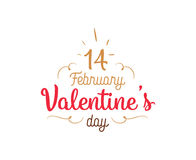 Happy Valentines day typography. Vector design. Happy Valentines day typography. Vector text design. Usable for banners, greeting cards, gifts etc. 14 february Stock Image
