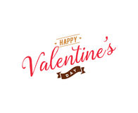 Happy Valentines day typography. Vector design. Stock Images