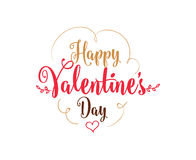 Happy Valentines day typography. Vector design. Royalty Free Stock Photography