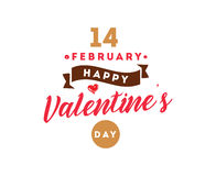 Happy Valentines day typography. Vector design. Happy Valentines day typography. Vector text design. Usable for banners, greeting cards, gifts etc. 14 february Royalty Free Stock Photography