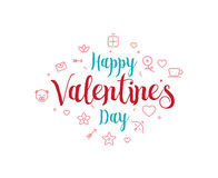 Happy Valentines day typography. Vector design. Happy Valentines day typography. Vector text design. Usable for banners, greeting cards, gifts etc. 14 february Royalty Free Stock Photo