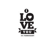 Happy Valentines day typography. Vector design. Happy Valentines day typography. Vector text design. Usable for banners, greeting cards, gifts etc. 14 february stock illustration