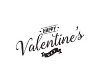 Happy Valentines day typography. Vector design. Stock Photography