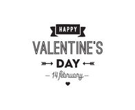 Happy Valentines day typography. Vector design. Stock Photos