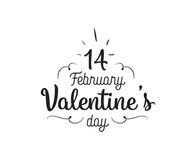 Happy Valentines day typography. Vector design. Happy Valentines day typography. Vector text design. Usable for banners, greeting cards, gifts etc. 14 february Royalty Free Stock Image