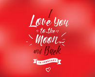 Happy Valentines day typography. Vector design. Happy Valentines day typography. Vector text design. Usable for banners, greeting cards, gifts etc. 14 february Stock Photography