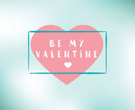 Happy Valentines day typography. Vector design. Royalty Free Stock Photos