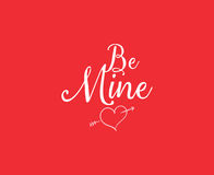 Happy Valentines day typography. Vector design. Royalty Free Stock Image