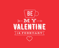 Happy Valentines day typography. Vector design. Royalty Free Stock Images