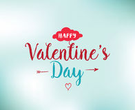 Happy Valentines day typography. Vector design. Royalty Free Stock Photo