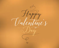 Happy Valentines day typography. Vector design. Happy Valentines day typography. Vector text design. Usable for banners, greeting cards, gifts etc. 14 february Stock Photos
