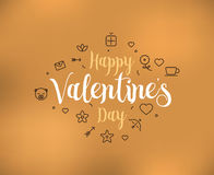 Happy Valentines day typography. Vector design. Stock Photo