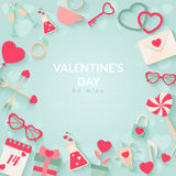 Happy Valentines Day Vector Background Royalty Free Stock Photo