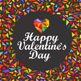 Happy Valentines Day. Vector card Royalty Free Stock Image