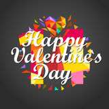 Happy Valentines Day. Vector card Stock Photos