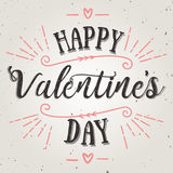 Happy valentines day vector card. Holiday background, card, poster design Royalty Free Stock Photography