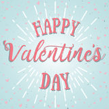 Happy valentines day vector card. Holiday background, card, poster design stock illustration