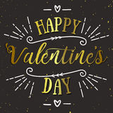 Happy valentines day vector card. Holiday background, card, poster design Stock Images