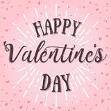 Happy valentines day vector card. Holiday background, card, poster design Stock Photo