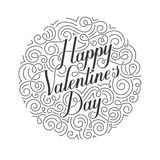 Happy Valentines Day vector card. Original calligraphy. Stock Photography