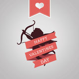 Happy Valentines Day vector with cupid Royalty Free Stock Images
