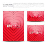 Happy Valentines Day vector design elements Stock Images