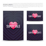 Happy Valentines Day vector design elements Royalty Free Stock Image