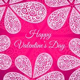 Happy Valentines Day. Vector doodle twirls Royalty Free Stock Photography