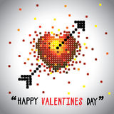 Happy valentines day vector graphic with love symbol and arrow. This graphic can be used for greeting cards, posters, mailers, promotions, banners for the 14 Stock Photos