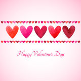 Happy Valentines Day vector greeting card Stock Photography