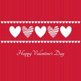Happy Valentines Day vector greeting card Royalty Free Stock Images