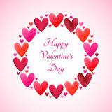 Happy Valentines Day vector greeting card Royalty Free Stock Photography