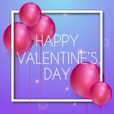 Happy valentines day vector greetings card design. Vector Stock Image