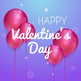 Happy valentines day vector greetings card design. Vector illustration Stock Photos