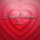 Happy Valentines Day vector retro background Stock Photography