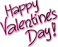 Happy Valentines Day - vector text Stock Images