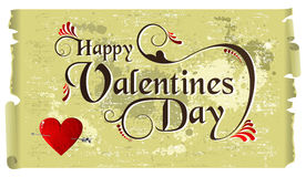 Happy Valentines day vintage background Royalty Free Stock Photos